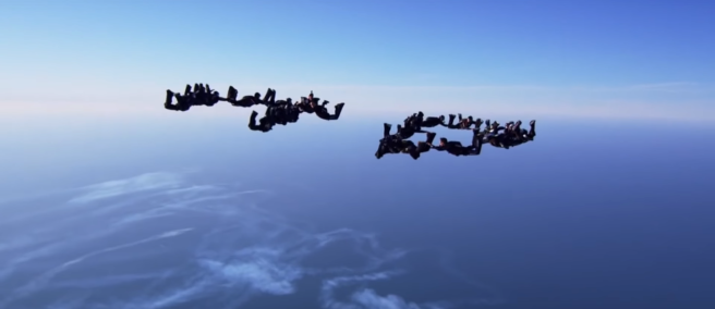 "The skydiving scene was a great contrast to the scenes preceding it, indicating a change in the tone of the film - Naseh Jrab's ""What do I desire?"""